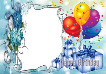 Надпись на рамке: С Днем Рождения!